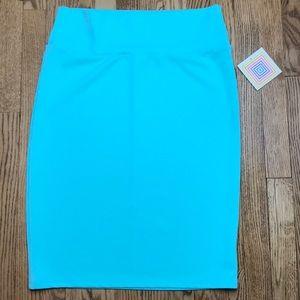 NWT LuLaRoe Cassie Skirt Turquoise Solid XL B11